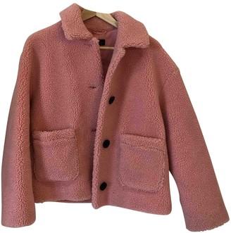 Topshop Tophop Pink Faux fur Coat for Women