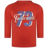 Timberland TimberlandBaby Boys Red Organic Cotton Jersey Top
