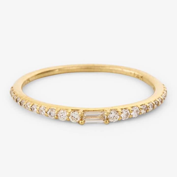 Ila Lamont Diamond Band Gold