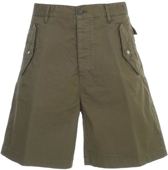 DSQUARED2 Washed Cotton Shorts W/pockets
