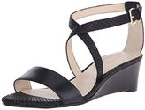 Nine West Women's Lacedress Leather Wedge Sandal