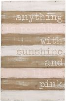 "Mud Pie Anything Is Possible With Sunshine"" Wood Plank Wall Art"