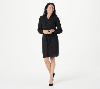 Joan Rivers Classics Collection Joan Rivers Solid or Printed Regular Wrap Dress