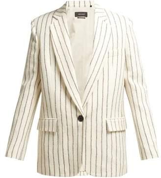 Isabel Marant Elder Stripe Wool Blend Boating Jacket - Womens - Ivory