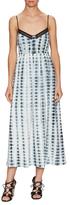 Thakoon V-Neck Eyelet Print Midi Dress