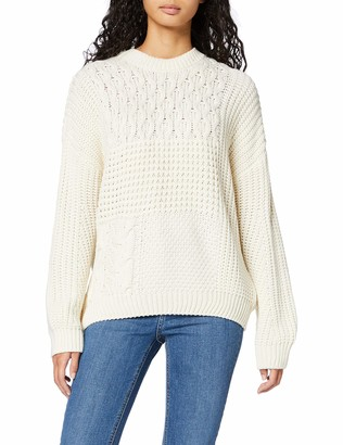 New Look Women's Patchwork Cable Jumper Sweater