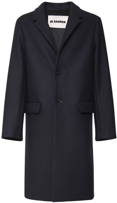 Jil Sander Raw Edge Wool Felt Coat