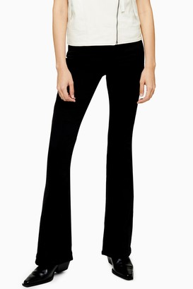 Topshop Womens Considered Black Wash Flare Jamie Skinny Jeans - Black