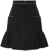 Alexis Mabille Black Corolla Flutter Skirt