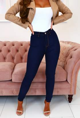 Pink Boutique Madison Indigo High Rise Stretch Skinny Jeans