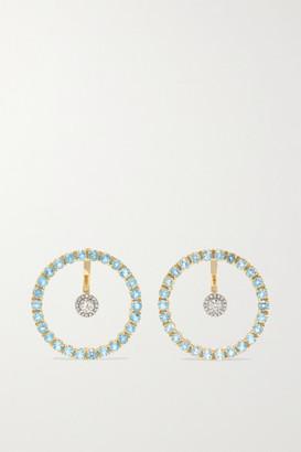 Mateo 14-karat Gold, Topaz And Diamond Earrings - one size