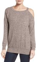 Gibson Women's Open Shoulder Fleece Top
