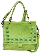 Nino Bossi Handbags Women's Handbags Green - Green Alexis Leather Satchel