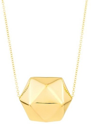 Alberto Milani Millennia 18K Gold Crystal Ball Pendant Necklace