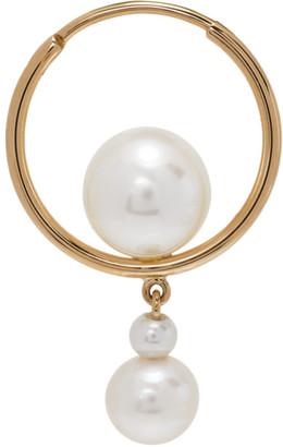Sophie Bille Brahe Gold Pearl Babylon Elipse Single Drop Earring