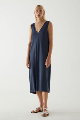 Cos V-Neck Organic Cotton Dress