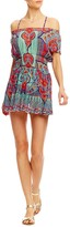 Nicole Miller Beach Fleur Cap Sleeve Dress