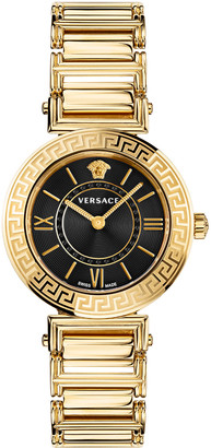Versace Tribute Watch with Bracelet Strap, Yellow Gold/Black