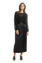 Country Road Satin Wrap Skirt