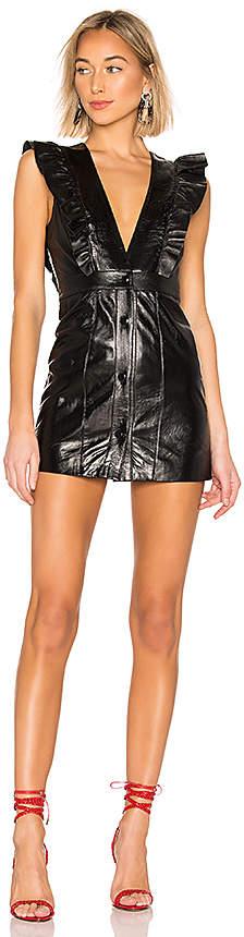 NBD Roslyn Leather Mini Dress