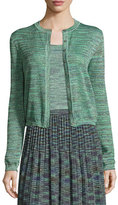 M Missoni Space-Dyed Lurex® Cropped Cardigan, Olive