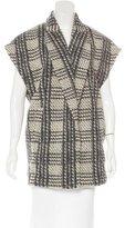 Alice + Olivia Wool Plaid Pattern Vest