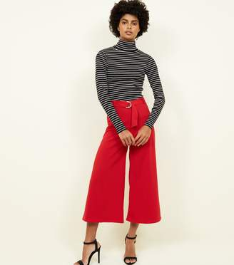 New Look D-Ring Belt Cropped Trousers