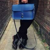 N'Damus London Leather Retro Briefcase Satchel