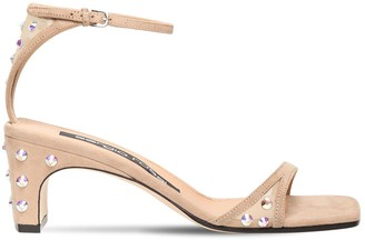 Sergio Rossi 60mm Suede & Mesh Sandals