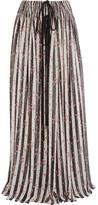 Lanvin Printed Silk-chiffon Maxi Skirt - White