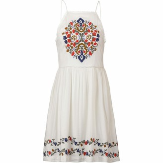 Superdry Katalina Apron Womens Dress Small White Multi