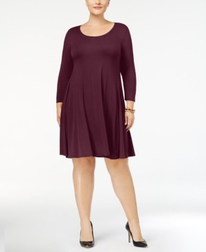 Style&Co. Style & Co Plus Size Scoop Neck Swing Dress, Created for Macy's