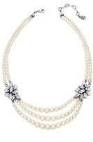 Ben-Amun Women's Faux Pearl & Crystal Multistrand Necklace