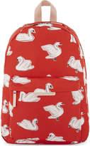 Stella McCartney Bang swan print canvas backpack