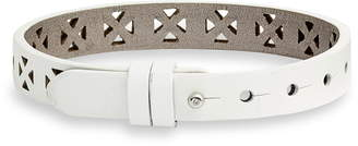 KEEP Collective Perforated Leather Band Reversible Charm Bracelet
