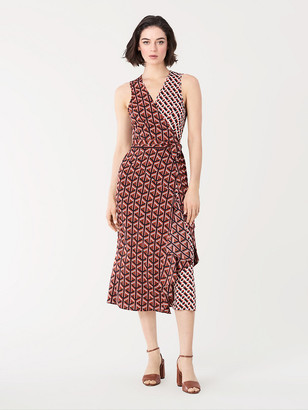 Diane von Furstenberg Moira Stretch-Georgette Midi Wrap Dress