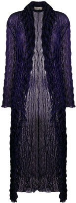 Romeo Gigli Pre Owned 1990's Crunched Sheer Long Coat