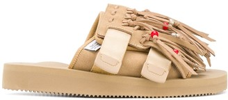 Suicoke Fringed Suede Slippers