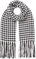 Oui Monochrome check scarf