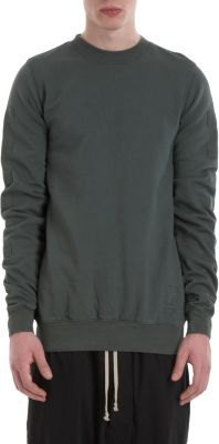 Rick Owens Square Patched Sleeves Sweatshirt