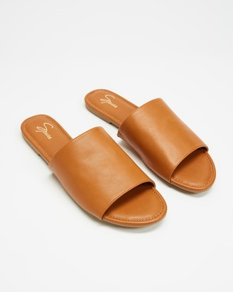 Spurr Women's Brown Low-Tops - Adele Comfort Slides - Size 5 at The Iconic