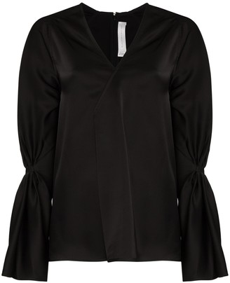 Victoria Beckham pleated V-neck blouse