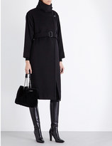Max Mara Funnel-neck wool and cashmere-blend coat