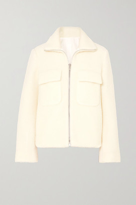 Helmut Lang Wool-blend Bomber Jacket - Cream