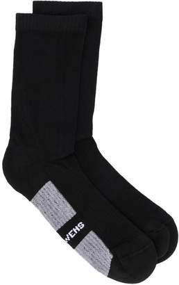 Rick Owens ribbed logo socks