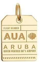 Jet Set Candy Aua Aruba Luggage Tag Charm