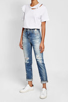 AG Jeans Distressed Jeans with Embroidery