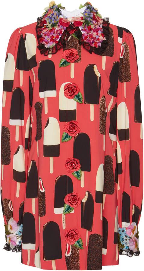 Dolce & Gabbana Ice Cream Charmeuse Dress