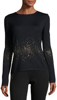 St. John Lightweight Embellished Santana-Knit Sweater