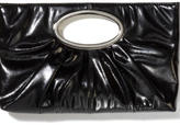 Pleated Cutout-Handle Clutch